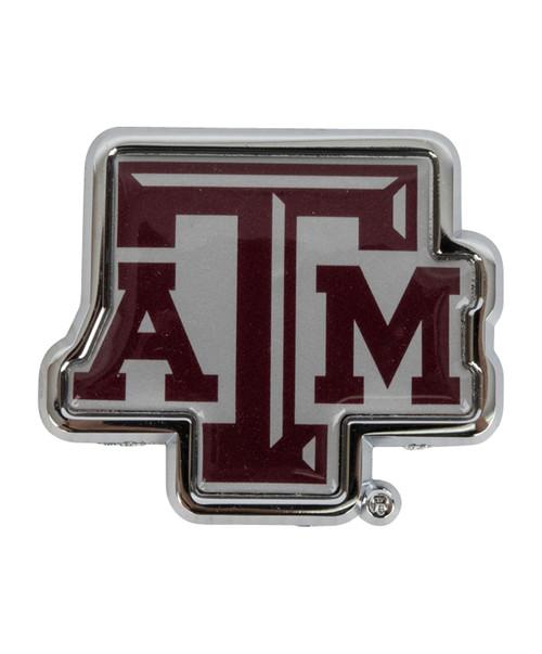 Texas A&M Aggies Maroon ATM Metal Car Decal