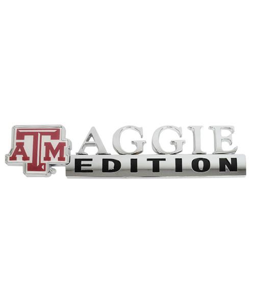 Texas A&M Aggies Edition Series Metal Car Decal