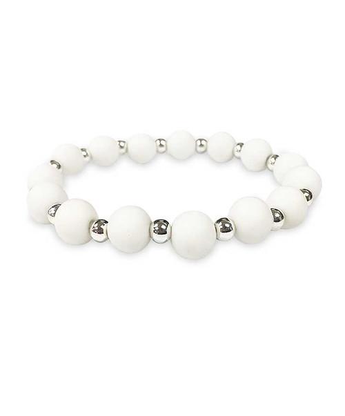 Texas A&M Aggies White Stretch Bracelet
