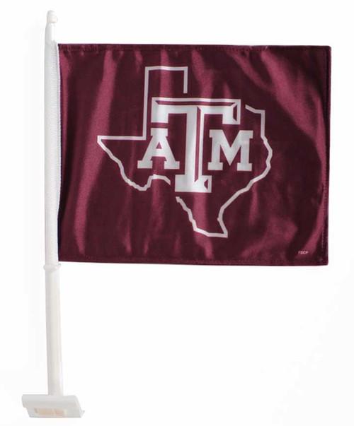 Texas A&M Aggies Lonestar Car Flag