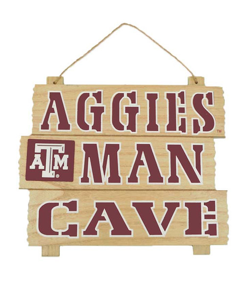 Texas A&M Aggies Man Cave Wooden Sign