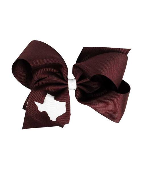 Texas A&M Aggies Texas Cutout Bow