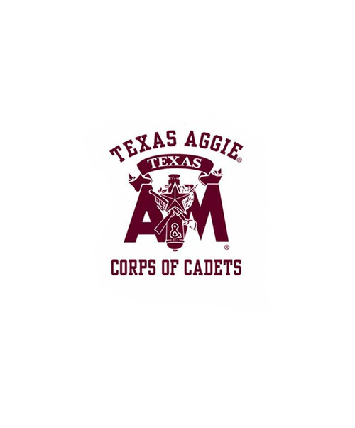 Texas A&M Aggies 2.75 x 3 Corps of Cadets Decal   Maroon