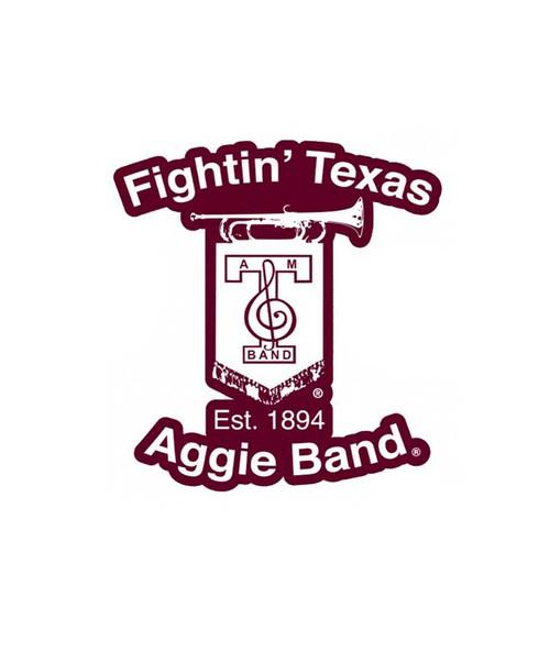 Texas A&M Aggies 8.5 x 9 Fightin' Aggie Band Decal   Maroon
