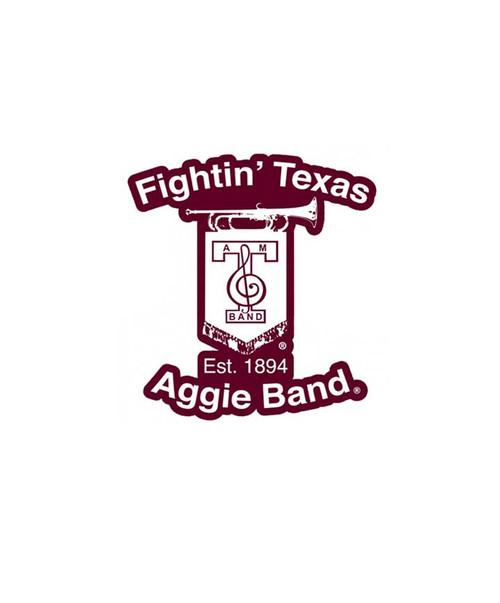 Texas A&M Aggies 2.75 x 3 Fightin' Aggie Band Decal | White