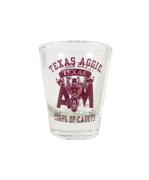Texas A&M Aggies Corps of Cadets Shot Glass