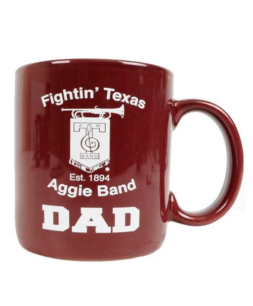 Texas A&M Aggie Band Dad Maroon Ceramic Coffee Mug