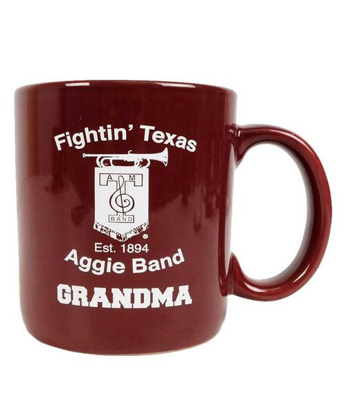 Texas A&M Fightin Texas Aggie Band Grandma Maroon Ceramic Coffee Mug