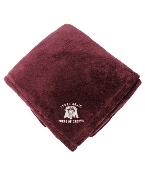 Texas A&M Corps of Cadets Maroon Fleece Blanket