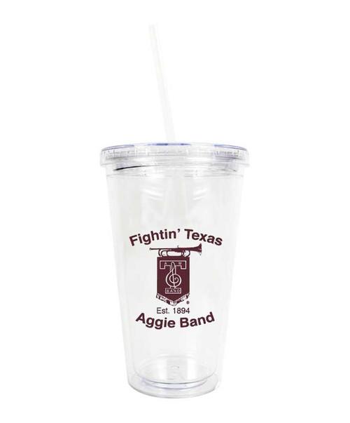 Texas A&M Fightin Texas Aggie Band Clear Acrylic Tumbler