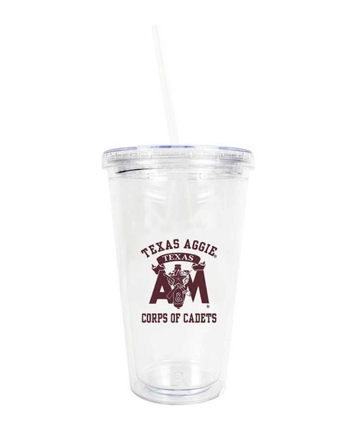Texas A&M Corps of Cadets Clear Acrylic Tumbler