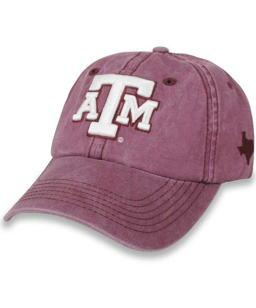 Texas A&M Aggies Unstructured Chino Twill Washed  Velcro Closure Maroon  Cap