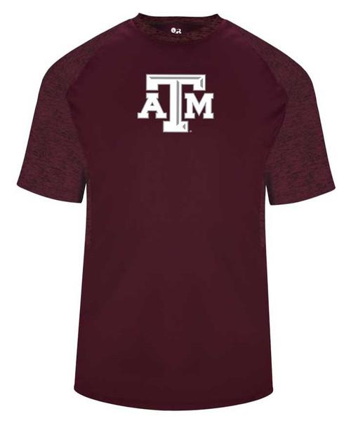Texas A&M Aggies ATM Badger Tonal Blend Panel Short Sleeve T-Shirt