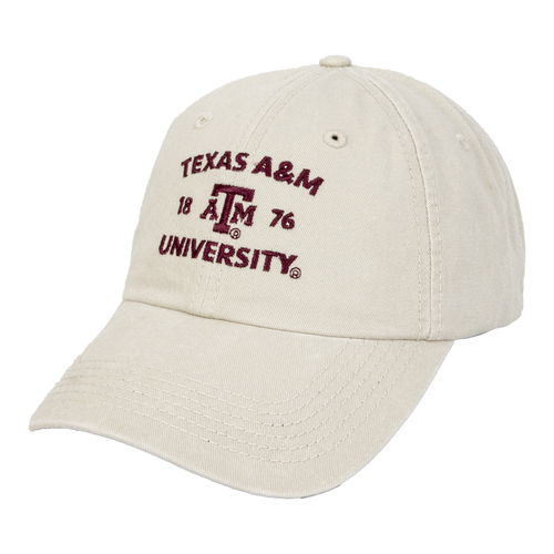 Texas A&M Aggies ATM Chino Twill Stone and Maroon Cap