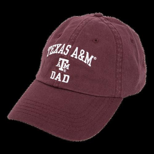 Texas A&M Aggies Dad Twill Maroon Slide Closure Cap