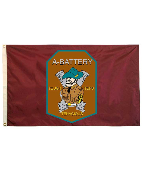 Texas A&M Corps of Cadets 3X5 A Battery Flag