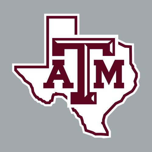 Texas A&M Aggies 3 x 3 Lonestar Decal | White