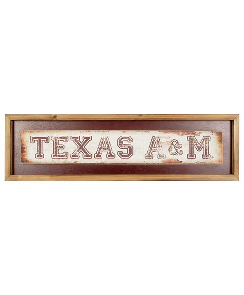 Texas A&M Aggies Distressed Long Sign (IN-STORE PICK UP ONLY)