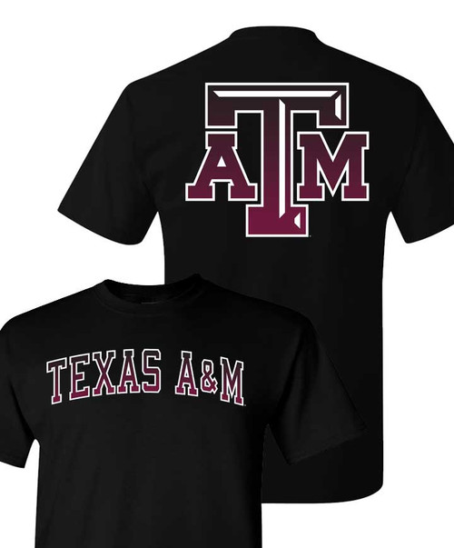 Texas A&M Aggies Youth Ombre Fade Black Short Sleeve T-Shirt
