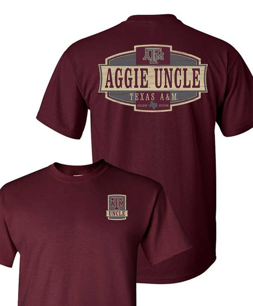 Texas A&M Aggies Maroon Aggie Uncle Short Sleeve T-Shirt