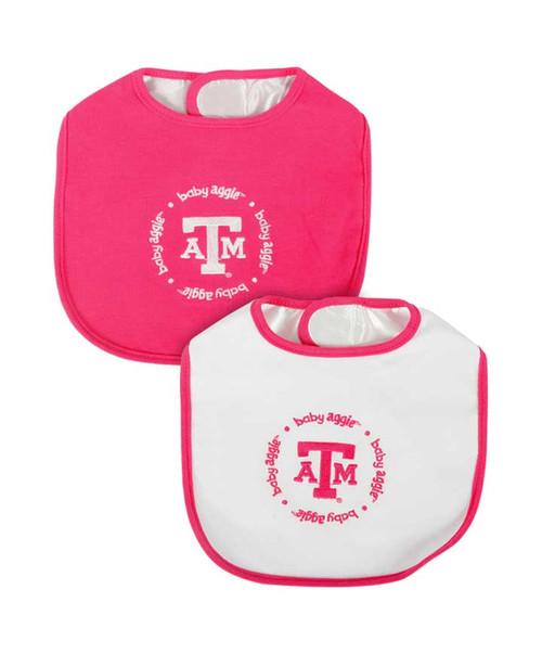 Texas A&M Aggies Baby Fanatic Pink Baby Bibs
