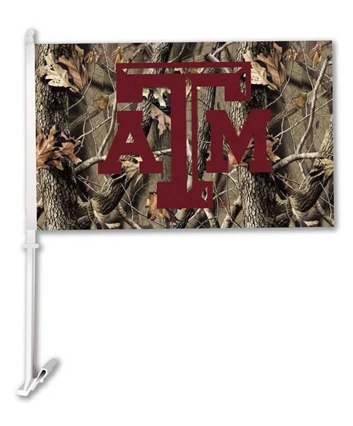 Texas A&M Aggies Camo ATM Car Flag