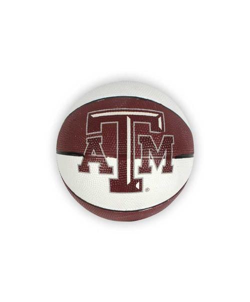 Texas A&M Mini Rubber Basketball