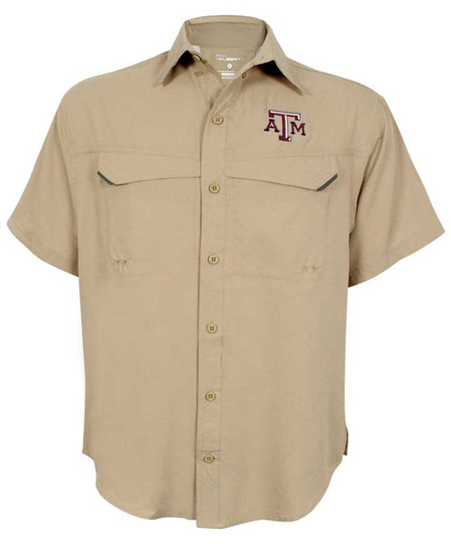 Texas A&M Aggies Khaki Pro Fish Short Sleeve Shirt