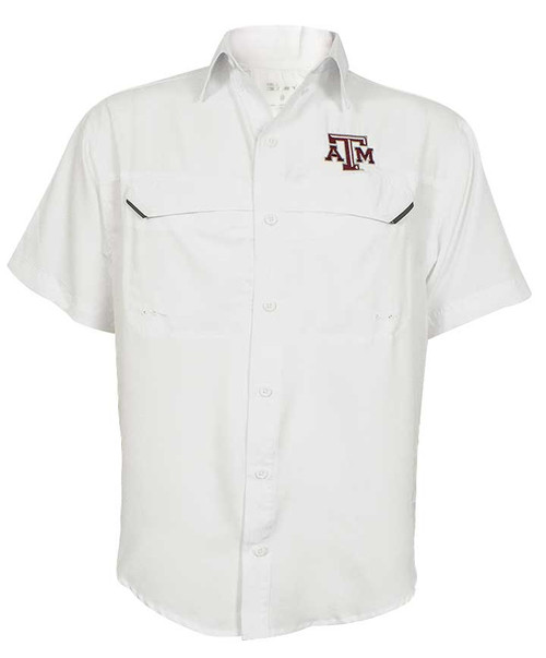 Texas A&M Aggies White Pro Fish Short Sleeve Shirt