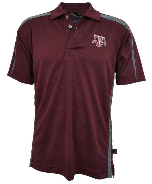 Texas A&M Aggies Maroon and Grey Pro Celebrity Men's Polo Shirt