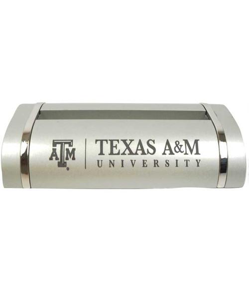 Texas A&M Aggies Two Tone Desk Card Holder