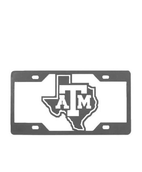 Texas A&M Aggies Grey ATM License Plate