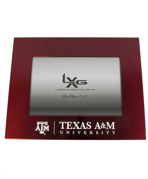 Texas A&M Aggies 4x6  Brushed Metal Picture Frame