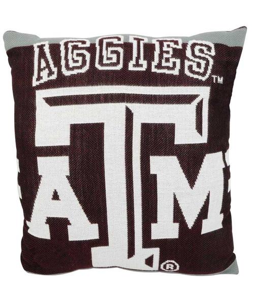 Texas A&M Aggies Jacquard Pillow