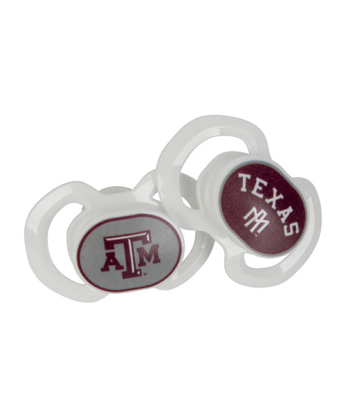 Texas A&M Aggies 2 Pack Team Color Pacifiers