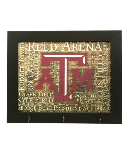 Texas A&M Aggies Framed Key Holder 8x12