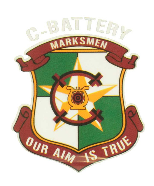 Texas A&M Corps of Cadets Outfit C-Battery Large Decal