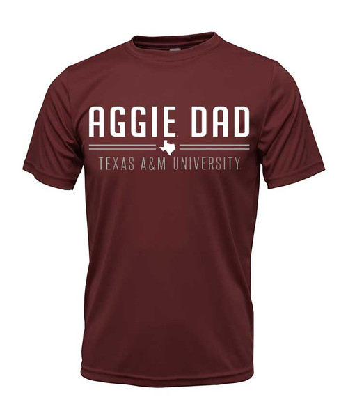 Texas A&M Aggie Dad Maroon Active Short Sleeve T-Shirt