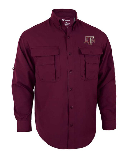 Texas A&M Aggies Maroon Pro Long Sleeve Fish Shirt