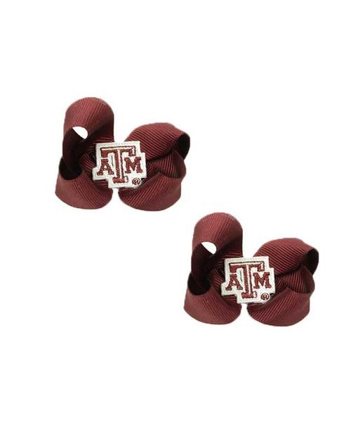 Texas A&M Aggies Maroon Toddler Bows