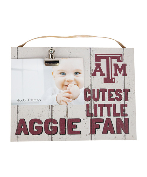Texas A&M Aggies 10x80 Clip It Photo Plaque Cutest Little Aggie Fan
