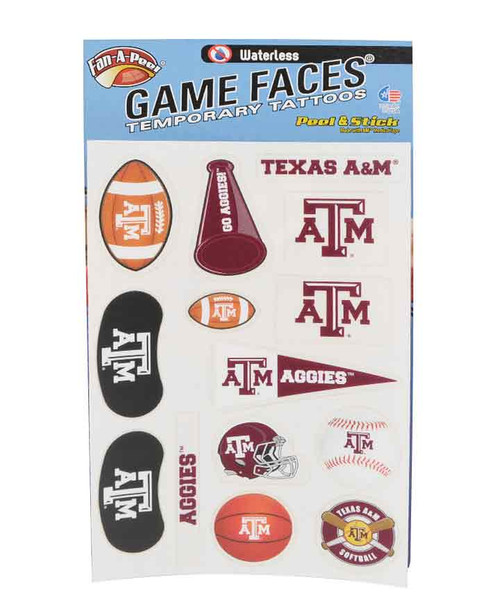 Texas A&M Face Decals