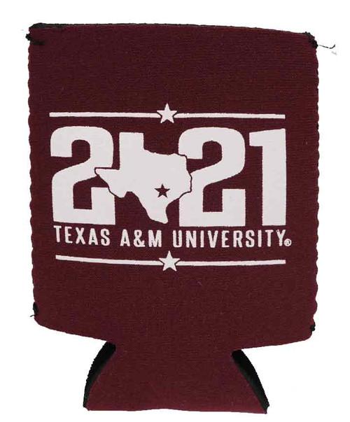 Texas A&M Aggies Class Of 2021 Maroon Koozie
