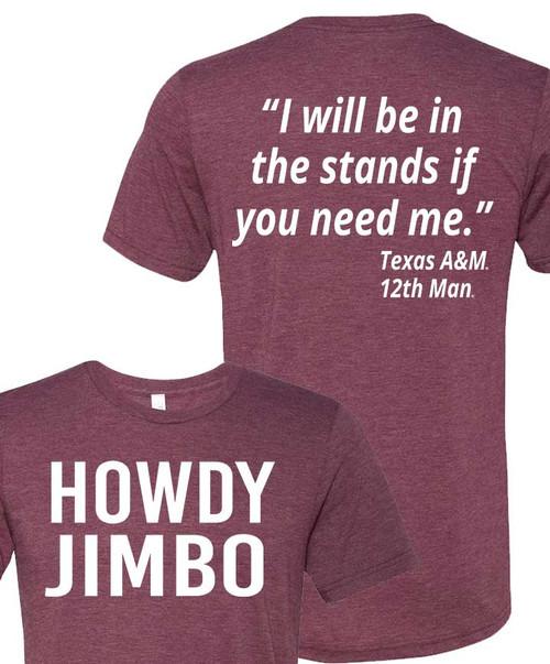 Maroon Howdy Jimbo - Football Collection