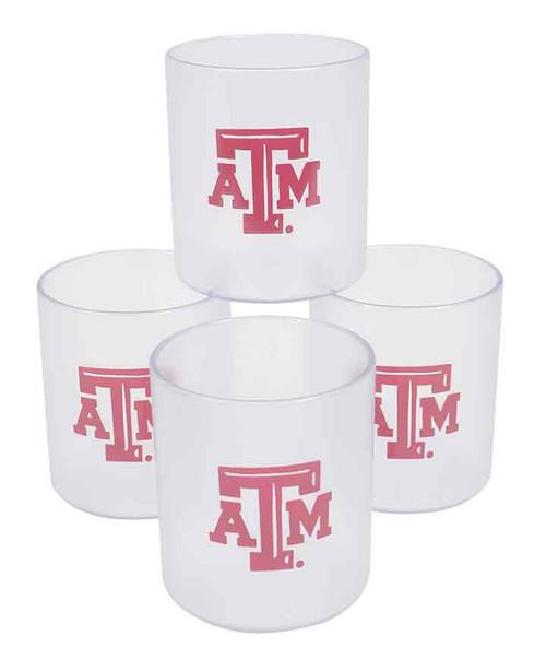 Texas A&M Aggies 4pk Clear 11 OZ Tumblers