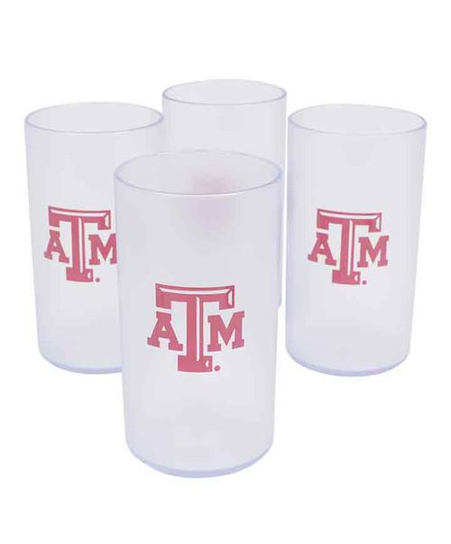 Texas A&M Aggies 4pk Clear 20 OZ Tumblers