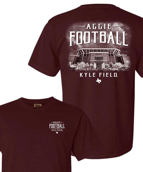 Maroon Fightin Texas Aggie Football - Aggie Football   Comfort Colors T-Shirt