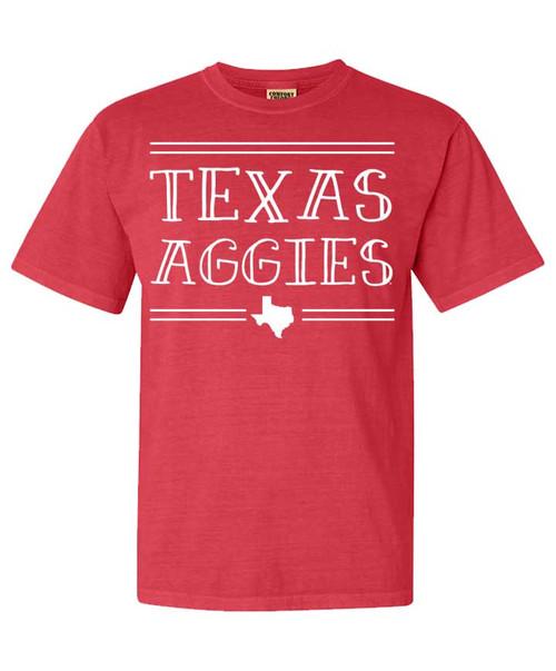 Texas Aggies - Coral | Comfort Colors T-Shirt