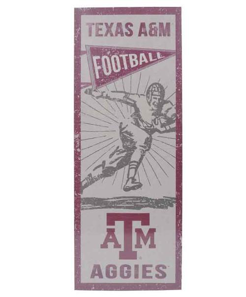 Texas A&M Aggies 7x18x.25 Vintage Football Player Plaque