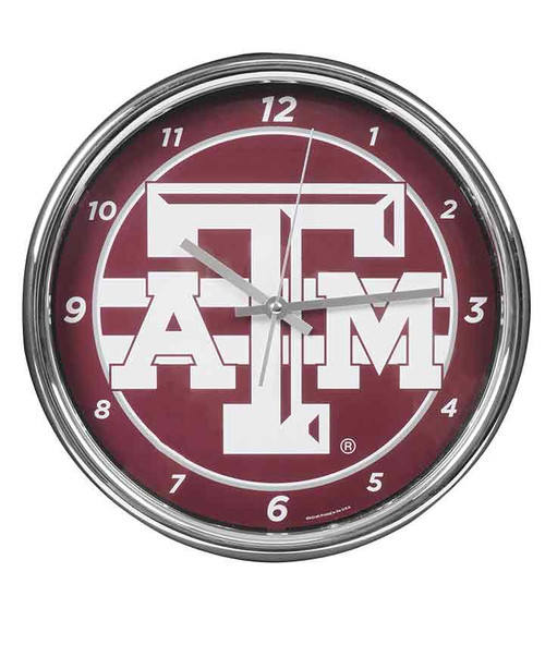 Texas A&M Aggies Chrome Clock